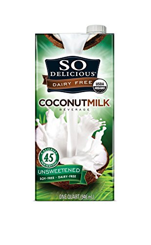 So Delicious Dairy Free – Organic Coconut Milk Beverage Organic Unsweetened,  32-Ounce (Pack of 6)