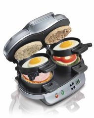 NEW NEW Hamilton Beach 25490 Dual Breakfast Sandwich Maker Kitchen Countertop Press