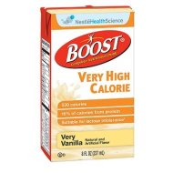 Boost VHC Vanilla, Very High Calorie 8 oz, Case of 27