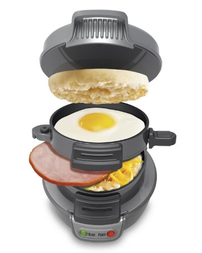 NEW Durable Hamilton Beach 25475 Home Kitchen Cooking Appliance Counter Top Hearty Breakfast Sandwich Maker (Grey)