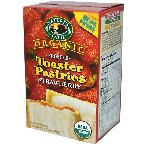 Nature's Path Organic Frosted Toaster Pastries, Berry Strawberry 6-Count Boxes, 11-Ounce (Pack of 6)