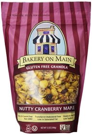Bakery On Main Gluten Free Non-GMO Granola, Nutty Cranberry Maple, 12-Ounce Bags (Pack of 6)