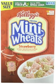Kellogg's Frosted Mini Wheats Bite Size Strawberry Delight 21-ounce (Pack of 4)