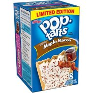 Pop-Tarts, Limited Edition, Frosted Maple Bacon Toaster Pastries, 8 Count, 14.1oz Box (Pack of 3)