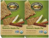 Nature's Path Un-Frosted Toaster Pastry – Apple Cinnamon – 11 oz – 6 ct – 2 pk