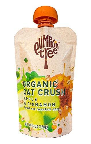 Pumpkin Tree Organic Oat Crush, Apple/Cinnamon, 4.2-ounce pouches (Pack of 8)