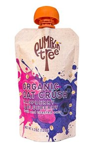 Pumpkin Tree Organic Oat Crush, Raspberry/Blueberry, 4.2-ounce pouches (Pack of 8)