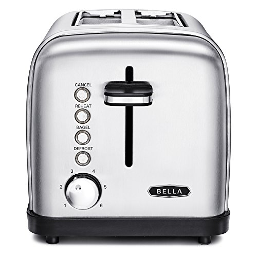 BELLA 14466 2-Slice Toaster, Silver