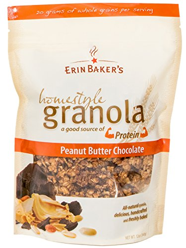 Erin Baker's Homestyle Granola, Peanut Butter, Chocolate, 12-Ounce Bags