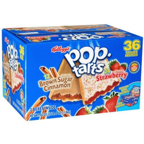 Kellogg's Pop-Tarts Variety Pack – 36 Pastries (4.14 lbs)