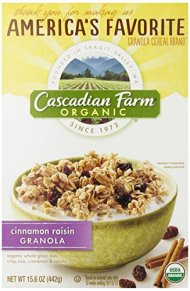 Cascadian Farm Cinnamon Raisin Granola Cereal, 15.6 oz
