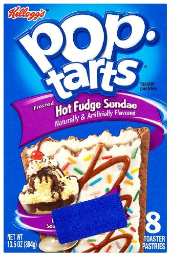 Pop-Tarts Toaster Pastries, Frosted Hot Fudge Sundae, 13.5-Ounce Boxes (Pack of 6)
