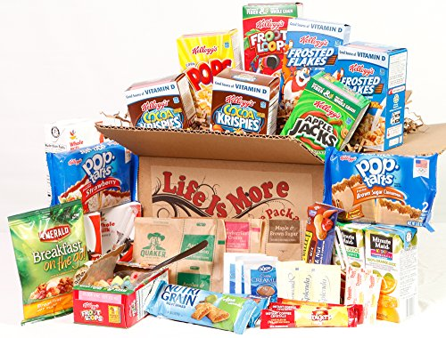 Student Breakfast Care Package Food Basket College Birthday Gift For