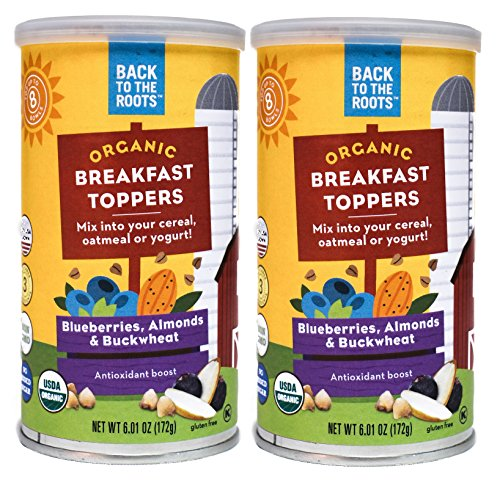 Back to the Roots Organic Breakfast Toppers: Blueberries, Almonds & Buckwheat (Pack of 2)