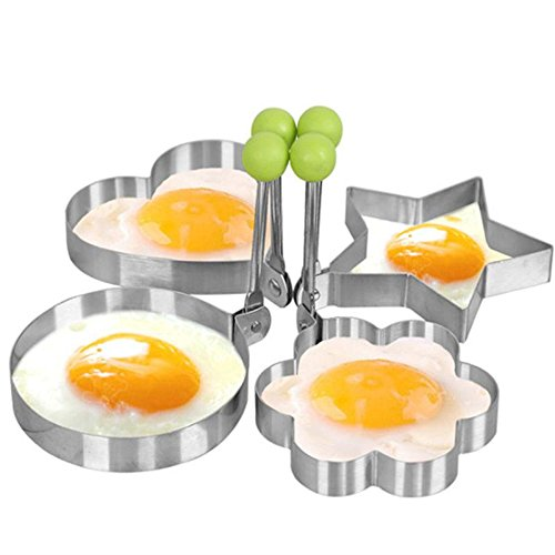 Mehome egg mold Egg Shaper egg ring pancake molds egg mould Stainless Steel Mold Cooking Kitchen Tools