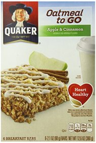 Quaker Chewy Oatmeal to Go Apples and Cinnamon Squares, 12.6 Ounce
