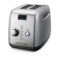 KitchenAid KMT223 2-Slice Toaster with One-Touch Lift/Lower and Digital Display – Silver