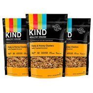 KIND Healthy Grains Granola Clusters, Oats and Honey with Toasted Coconut, 11 Ounce Bags, 3 Count