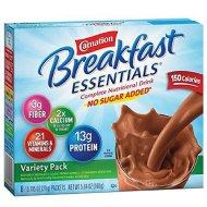 Carnation Breakfast Essentials Variety Pack No Sugar Added  (Pack of 2)