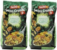 Familia Swiss Crunch Museli, Multigrain Flakes & Clusters with Sunflower & Pumpkin Seeds, 12oz Bags (Pack of 2)