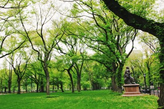 Green Statues in the Park