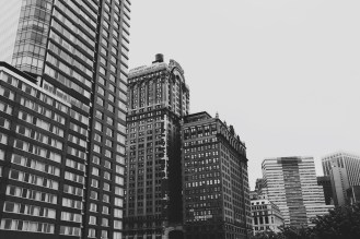 Black and White Financial District View