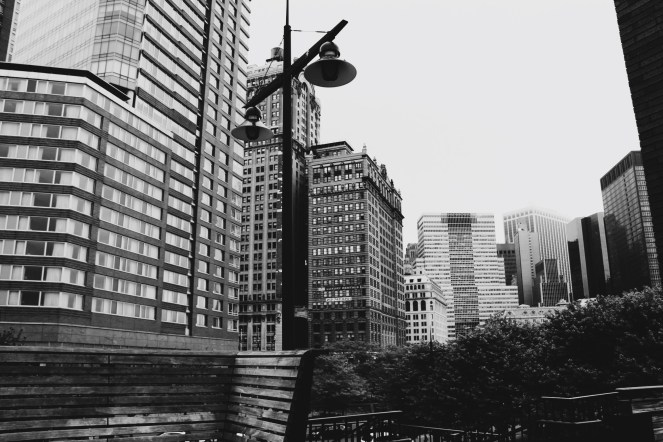 Black and White Financial District