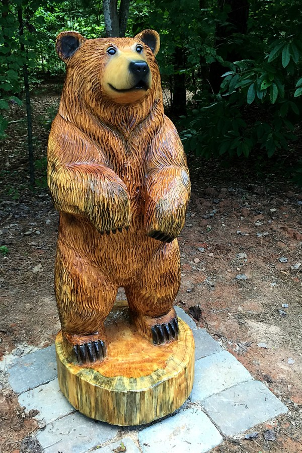 Brown Bear Sculpture Fire Pit Sleepy Hollow Art