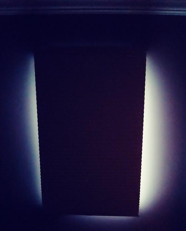 Light along sides of blackout shades