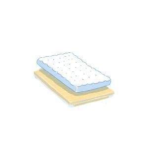 眠豆腐床架+床墊組合(無床頭板)|單人加大