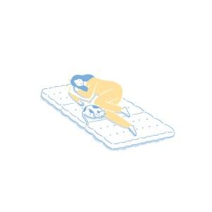 眠豆皮薄墊|單人加大