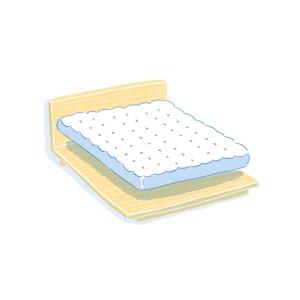 眠豆腐床架+床墊組合 標準雙人
