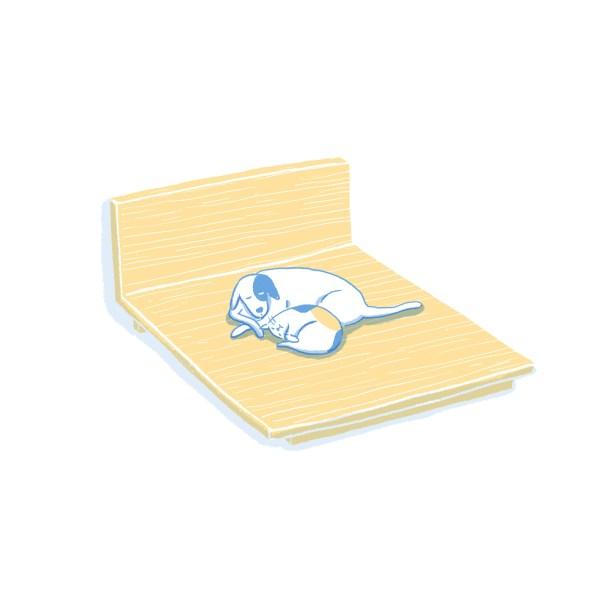 眠豆腐床架 標準雙人