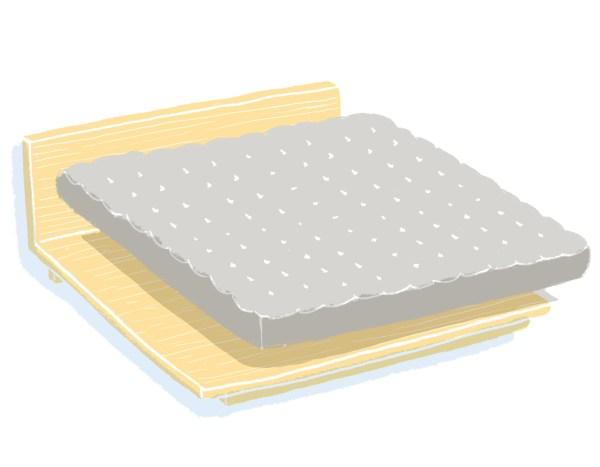 芝麻豆腐床架+床墊組合|雙人特大