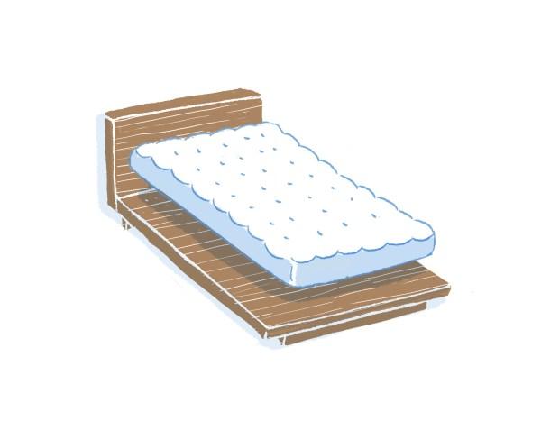 眠豆腐胡桃木床架+床墊組合|單人加大