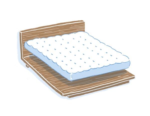 眠豆腐胡桃木床架+床墊組合|標準雙人