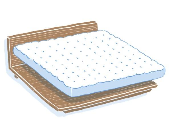 眠豆腐胡桃木床架+床墊組合 雙人特大