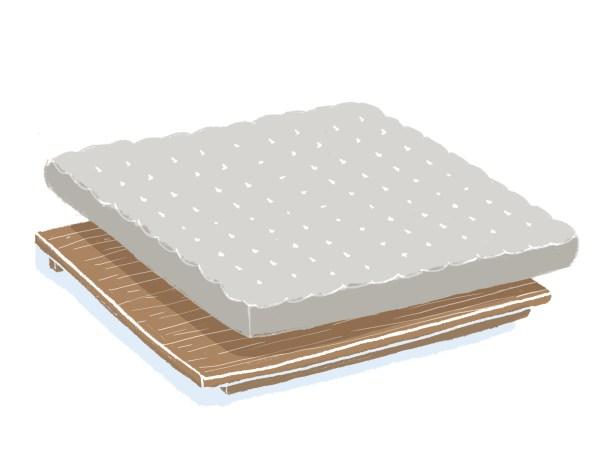 芝麻豆腐胡桃木床架+床墊組合(無床頭板) 雙人特大
