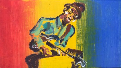 Hound dog taylor 2 painting