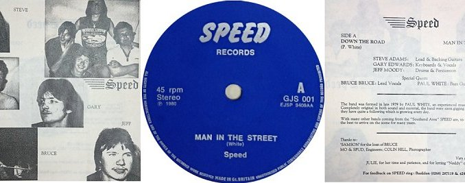 "Ultra RARE Speed 7"" single."