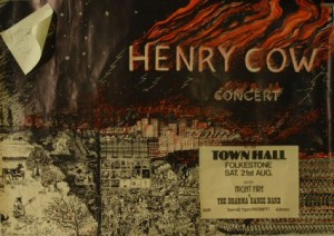 Autographed Henry Cow Concert Poster
