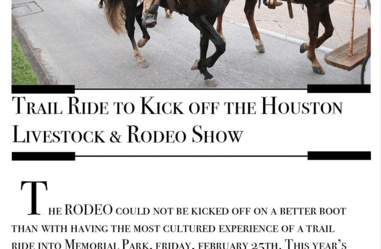 Trail Ride to Kick Off the Houston Livestock & Rodeo Show