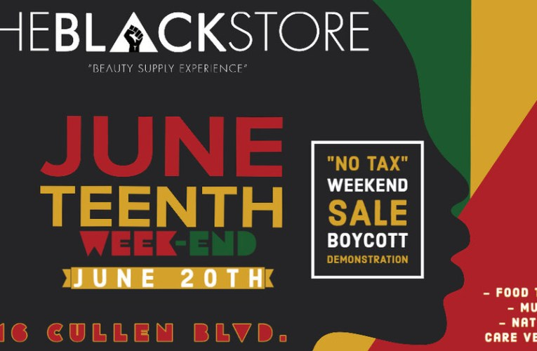 "JUNETEENTH ""NO-TAX WEEKEND"" SALE"