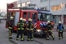 Brandweer houdt grote oefening, Sisalbaan in Leiderdorp