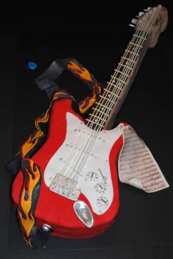 gitaar taart