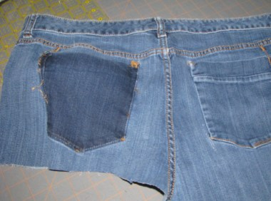 leftover jeans used in other projects