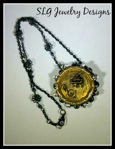 Resin Music Necklace