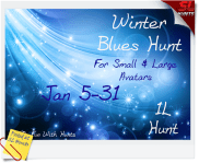 Winter Blues Sign