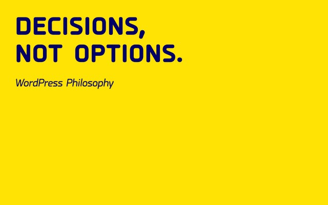 decisions_not_options