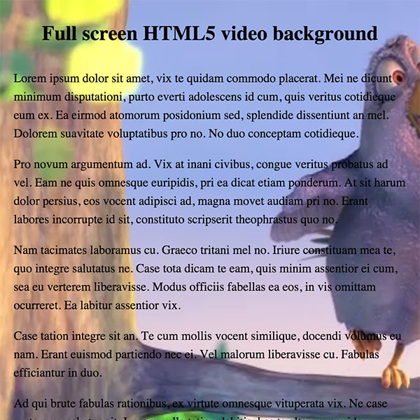 Creating a fullscreen HTML5 video background with CSS - Slicejack